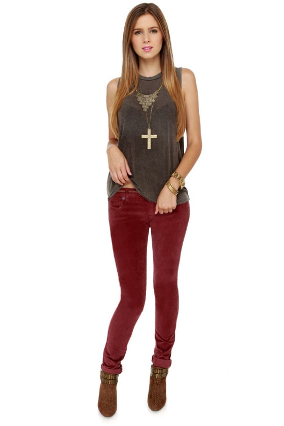 RVCA Life & Times Pants - Corduroy Pants - Skinny Pants - $87.00