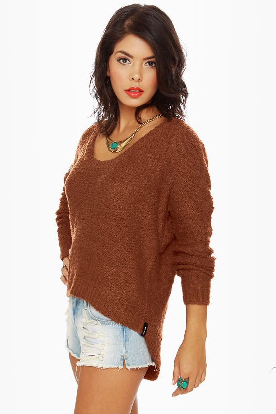 RVCA Needle Park Burnt Orange Sweater at Lulus.com!