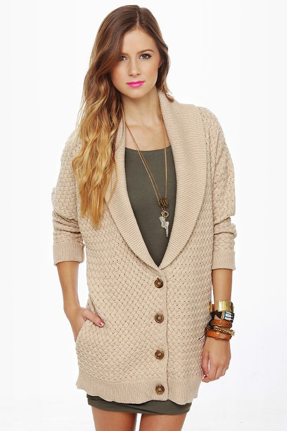RVCA Wild Unknown Beige Sweater