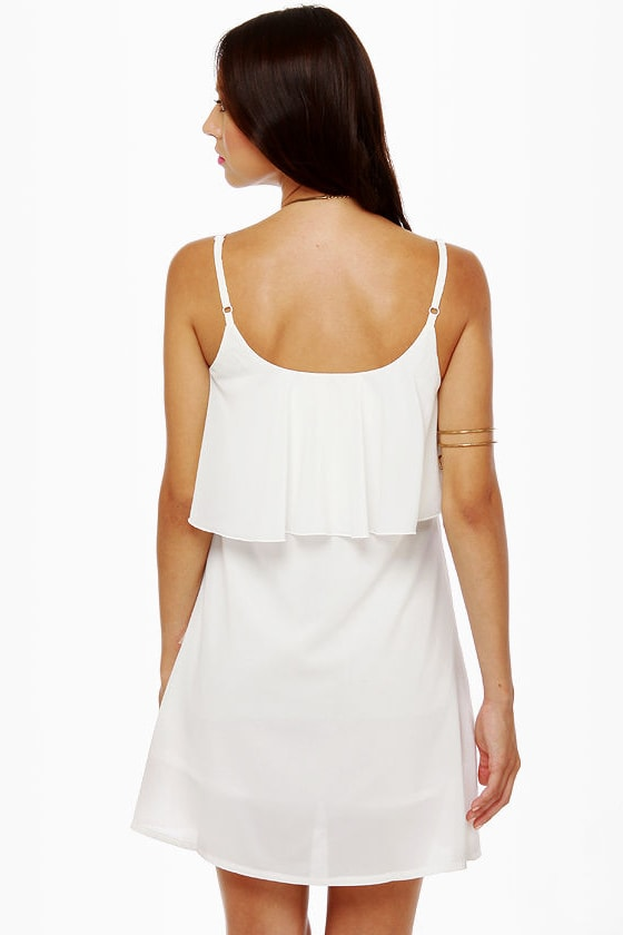 Canyon Dig It White Sequin Dress