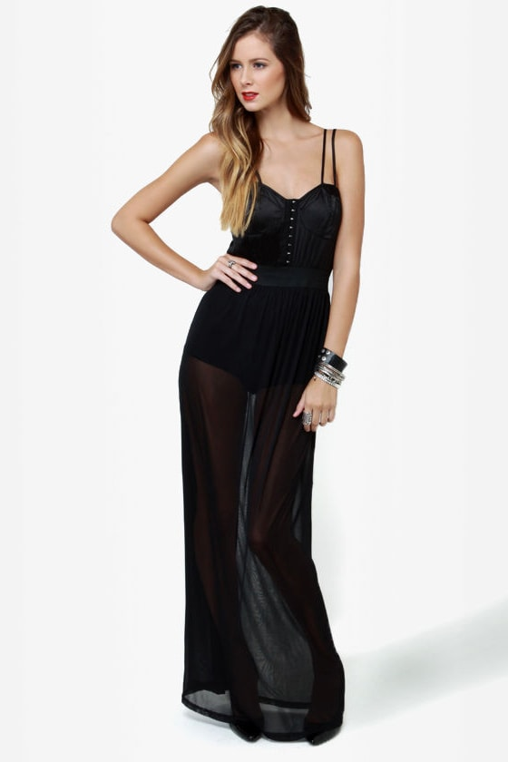 Fourth Dimension Black One-Piece at Lulus.com!