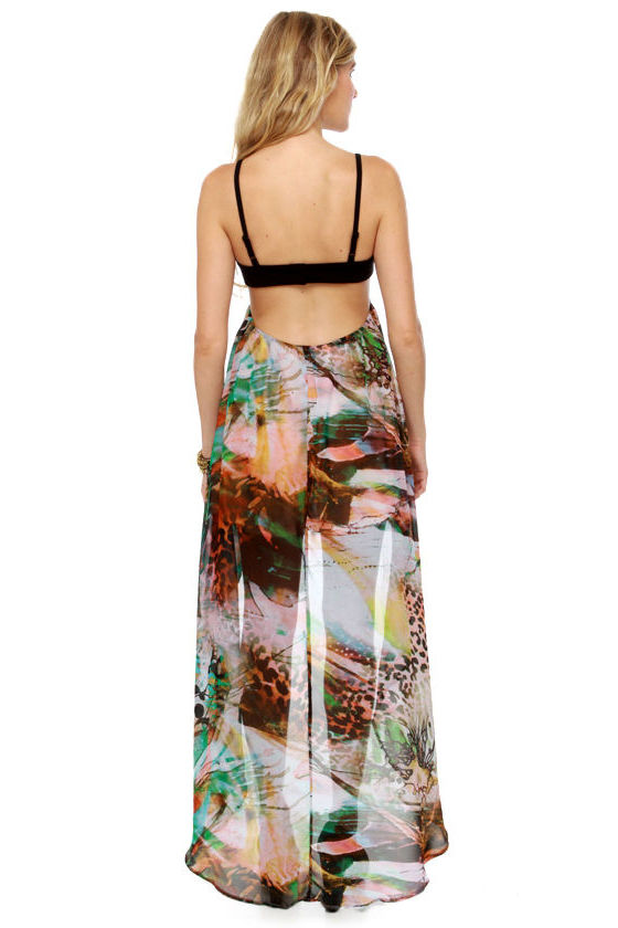 A Prints-ly Sum High-Low Print Dress at Lulus.com!