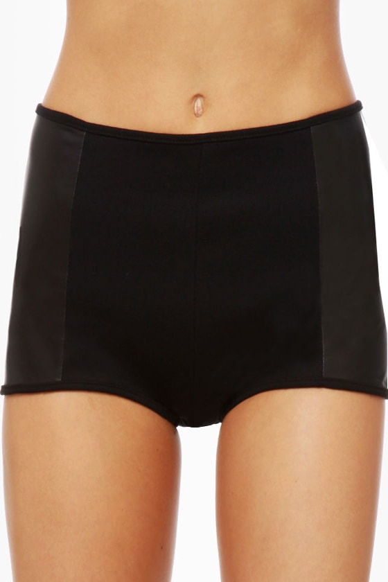 Dancing Machine Black Hot Pants at Lulus.com!