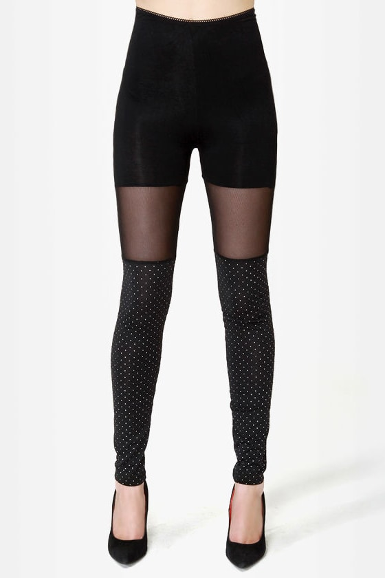 Celestial Bodies Black Studded Leggings at Lulus.com!