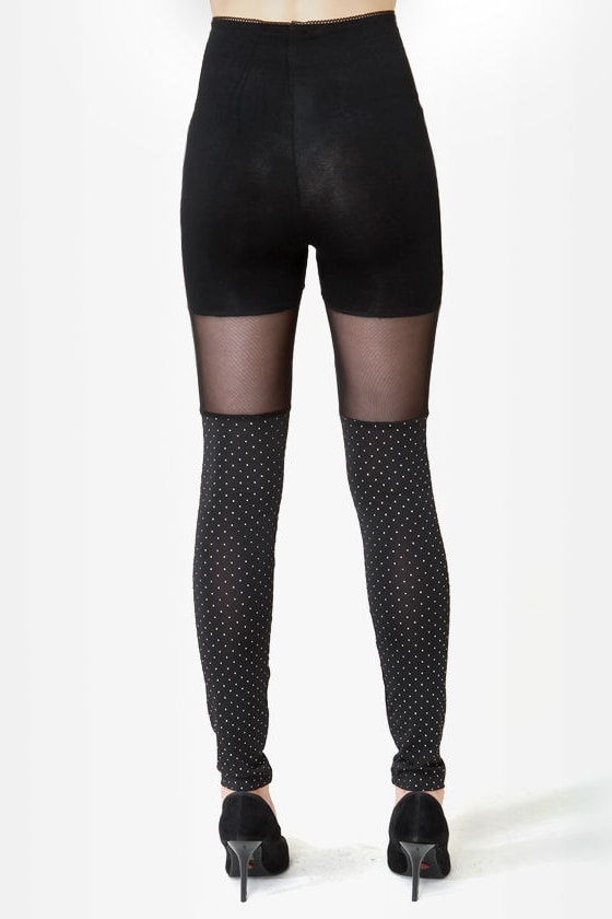 Celestial Bodies Black Studded Leggings