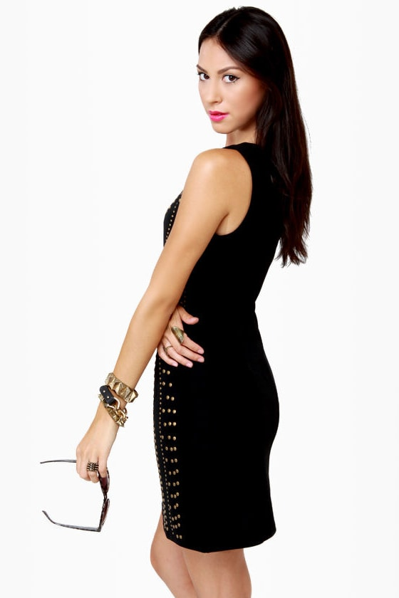 Constellation Prize Studded Black Dress