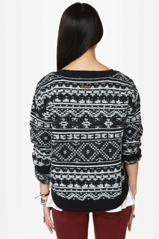 Roxy Elm Black Knit Sweater at Lulus.com!