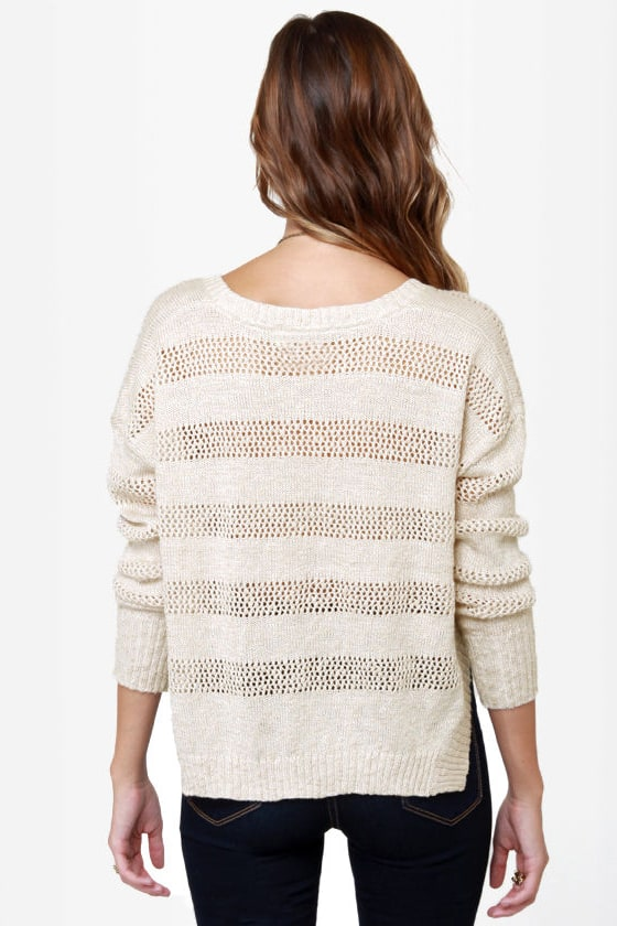 Roxy Rochester Beige Cropped Sweater at Lulus.com!
