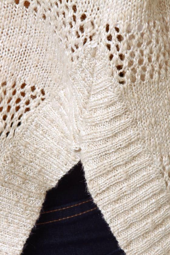 Roxy Rochester Beige Cropped Sweater