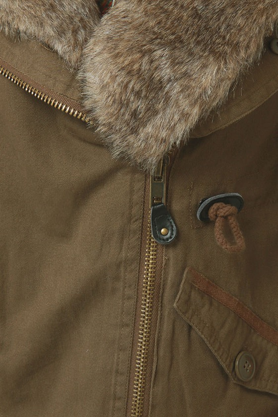 Parka Avenue Army Green Coat