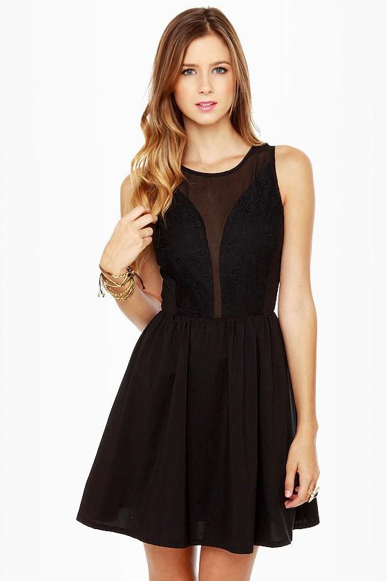 Pretty in Posh Black Lace Dress