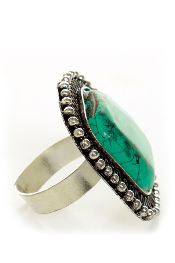 Square Dancer Turquoise Ring