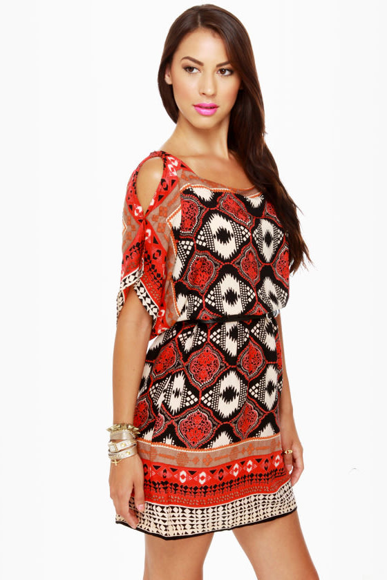 I Feel Print-y Tribal Print Dress
