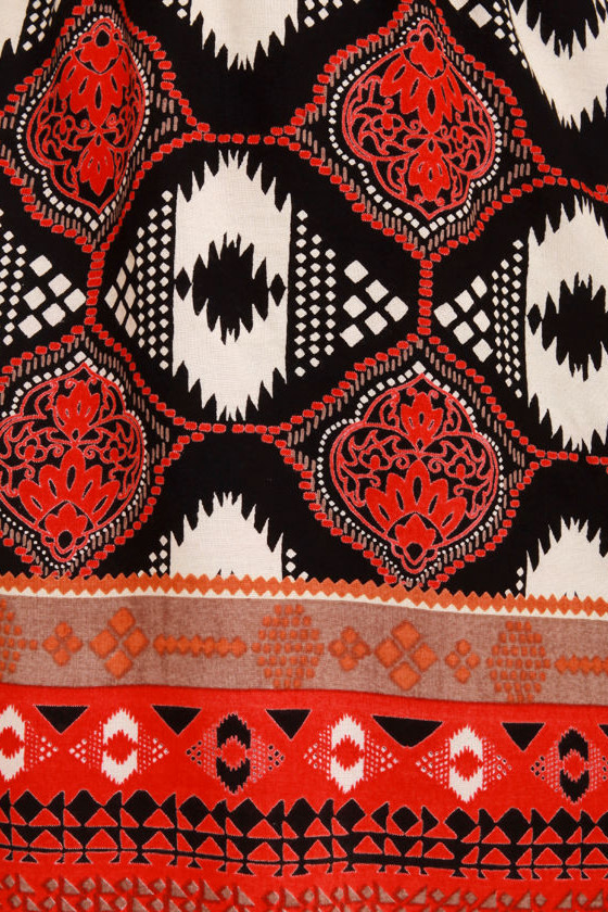 I Feel Print-y Tribal Print Dress