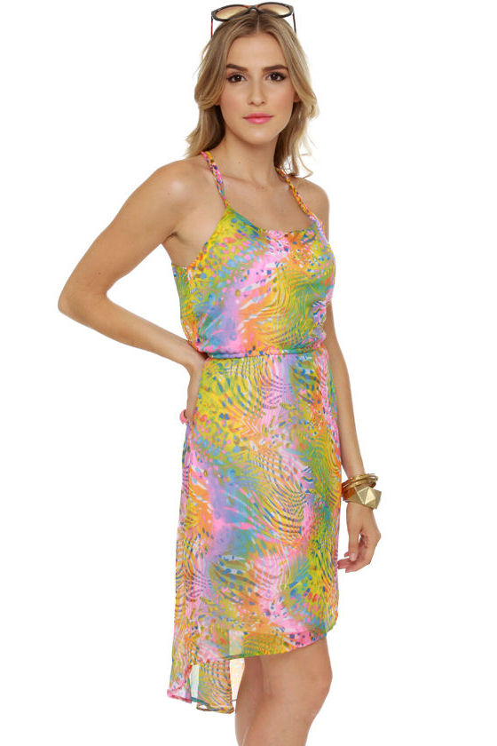 Psychedelic Delights Print Dress at Lulus.com!