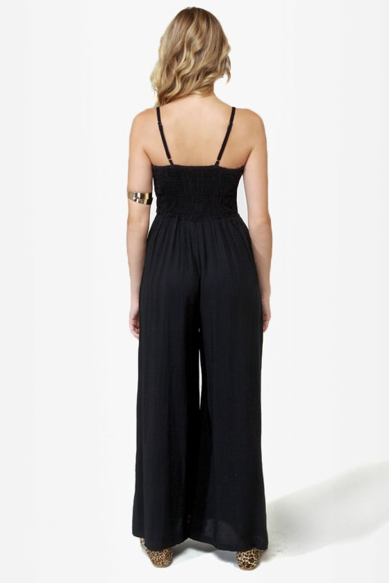 Saved by the Embellishments Studded Black Jumpsuit