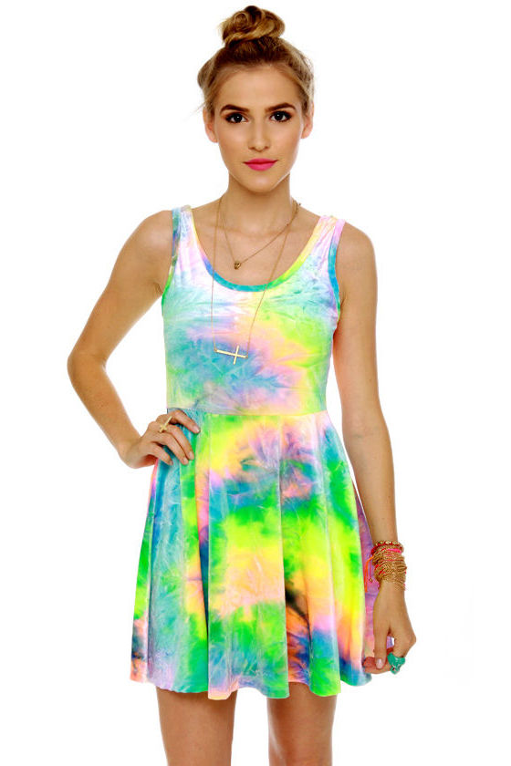 SYM Rainbow Velvet Dress