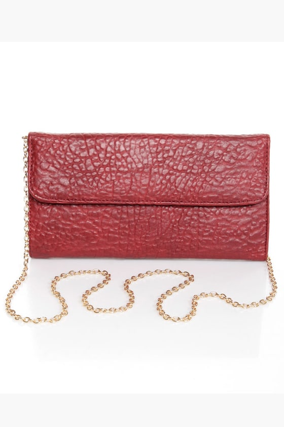 Just Can't Lose Studded Red Clutch at Lulus.com!