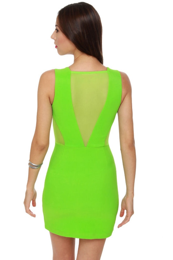 Fun Zip Lime Green Dress
