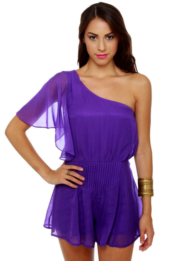Pleat-y Little Things Purple Romper