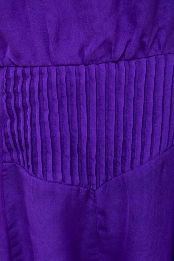 Pleat-y Little Things Purple Romper