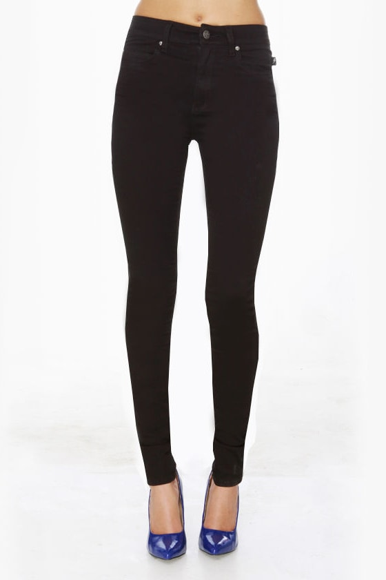 Tripp NYC Antique Black High-Waist Skinny Jeans