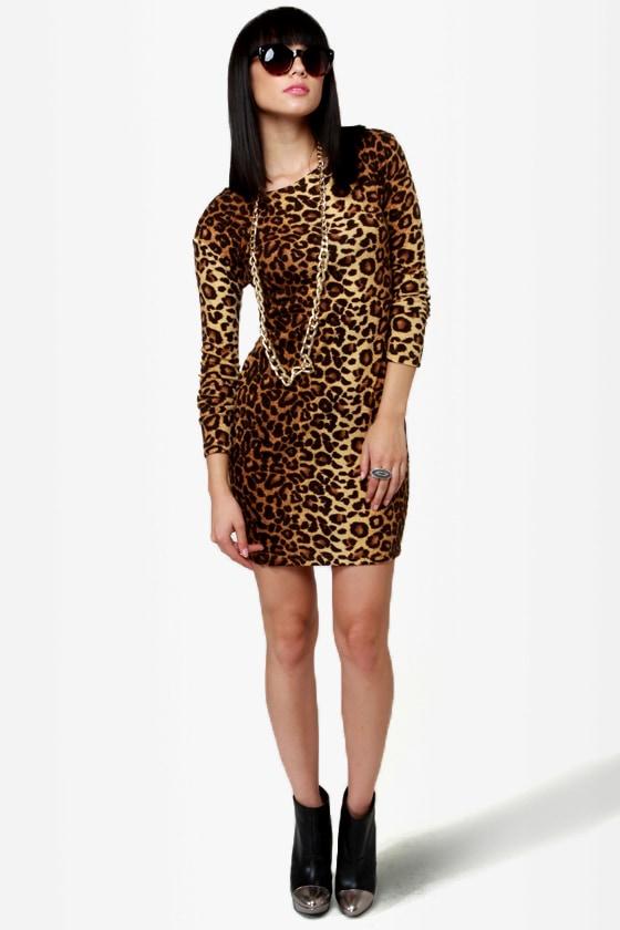 97deb9e325 Sexy Animal Print Dress - Leopard Print Dress - Body-Con Dress ...