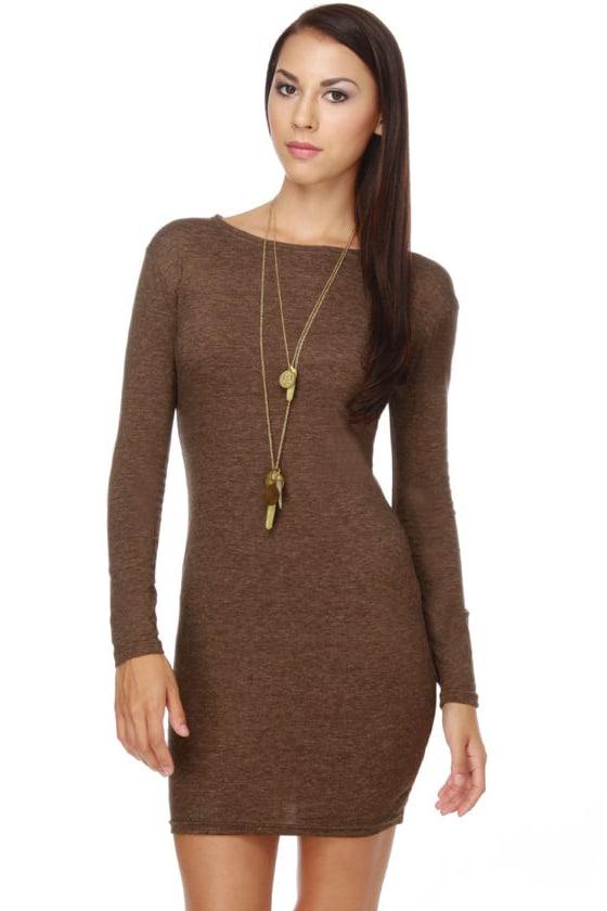 Comeback Baby Brown Dress