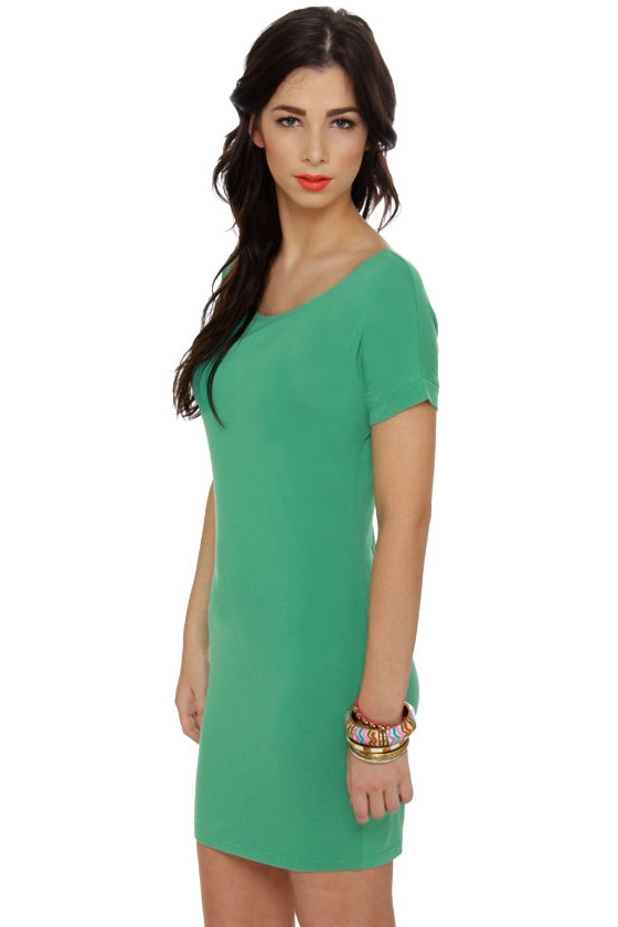 Sun Tee Mint Green Dress at Lulus.com!