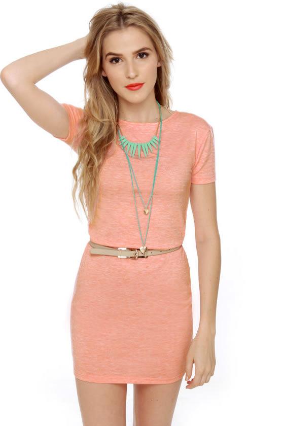 Cute Short Sleeve Dress Light Pink Dress 31 00