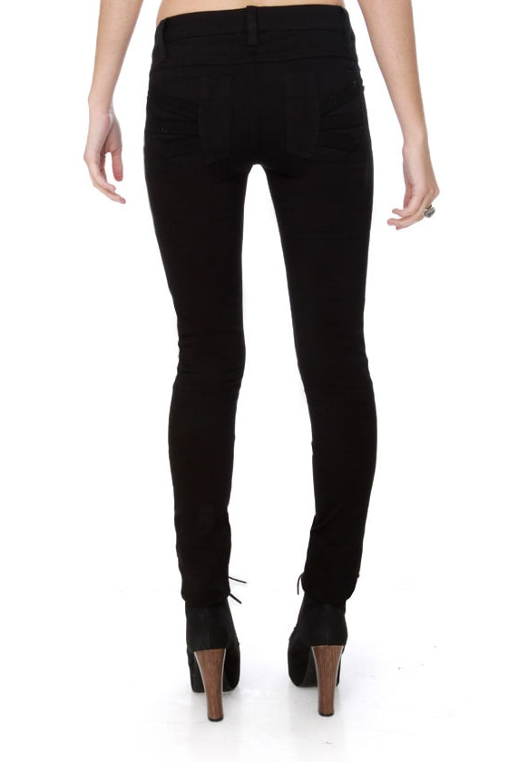 Tripp NYC Z-Cut Black Jeans