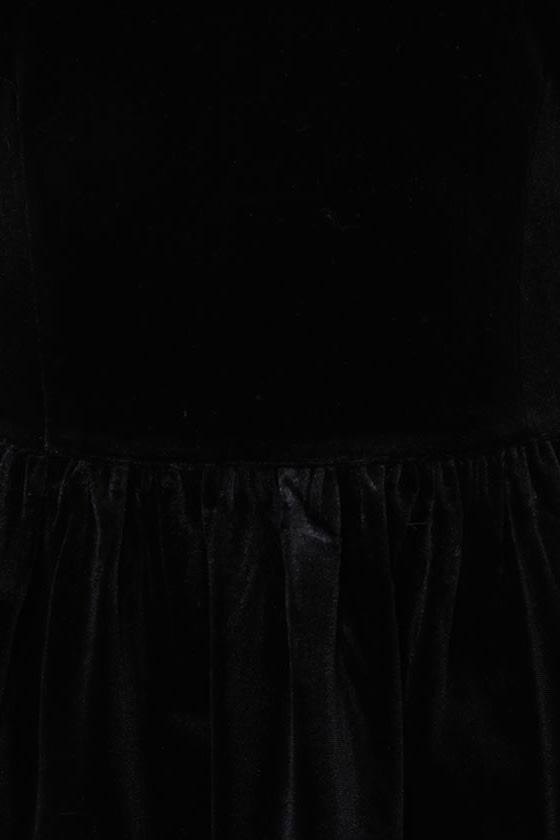 Velveteen Dream Black Velvet Top