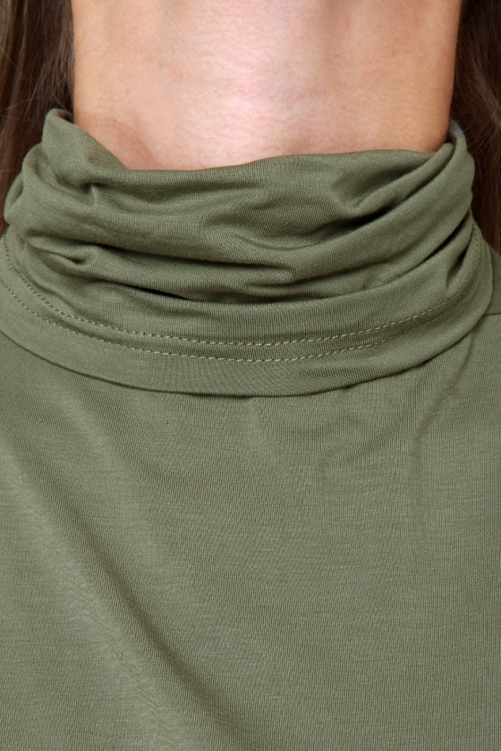 Heroes in a Half Shell Army Green Turtleneck Top