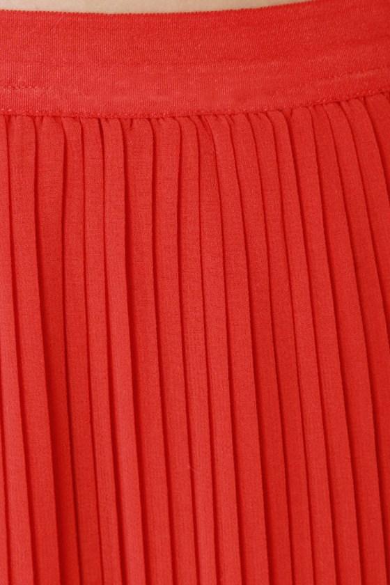 Bits and Creases Orange Maxi Skirt