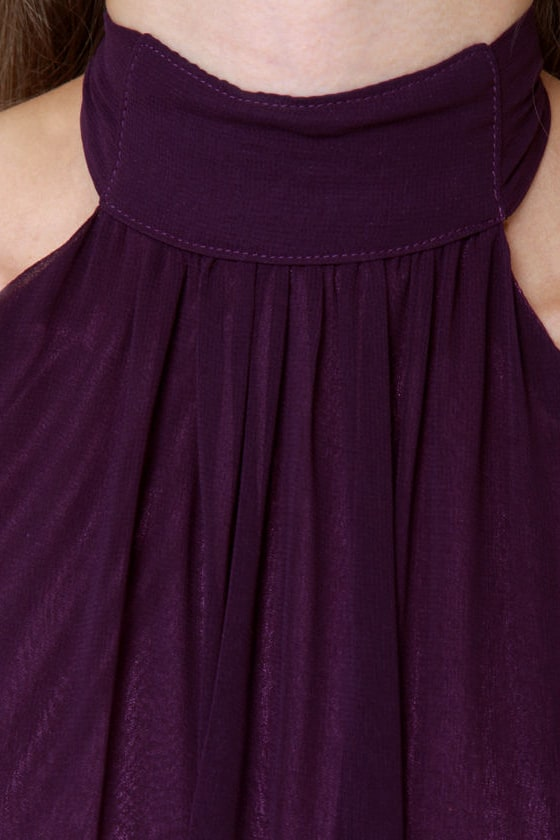 Break It Down Backless Purple Jumpsuit at Lulus.com!