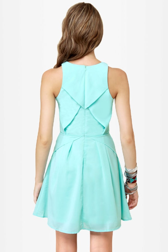 More, More, More-igami Light Blue Dress