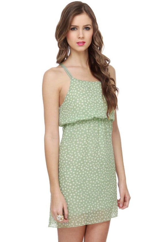 Poke Salad Mint Green Polka Dot Dress at Lulus.com!