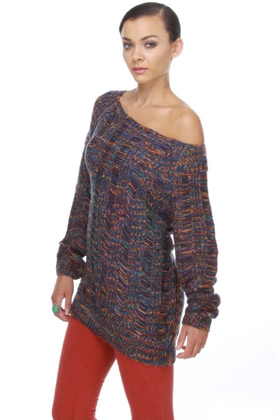 Appalachia Lore Purple Sweater