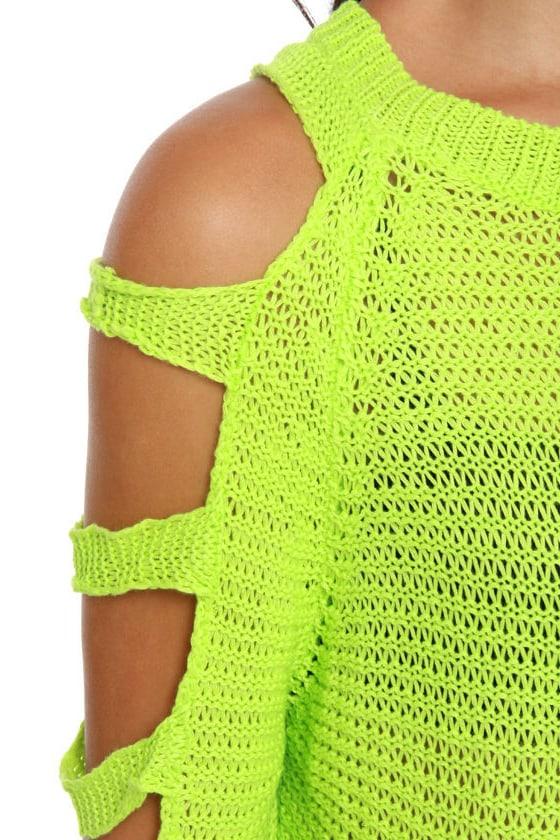 Ne-On Top of It Neon Green Sweater