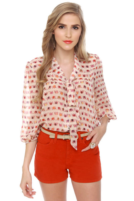 Trunk-y Business Print Top