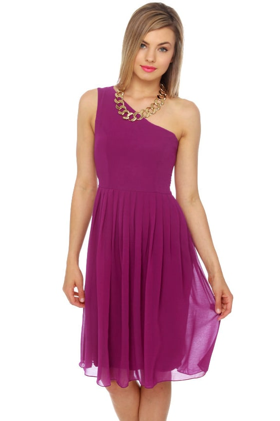 Fleeting Glance Magenta Dress