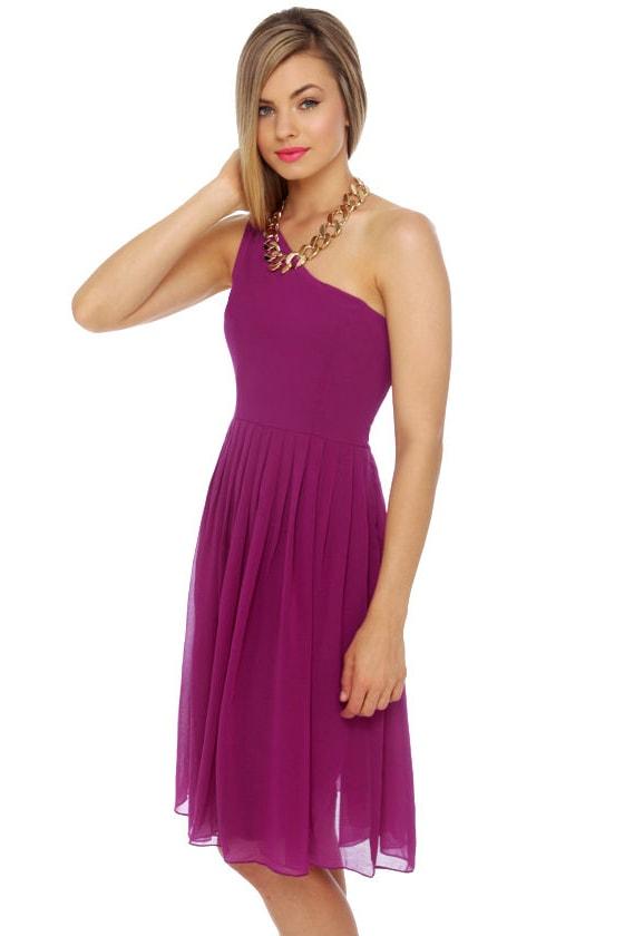 Fleeting Glance Magenta Dress at Lulus.com!