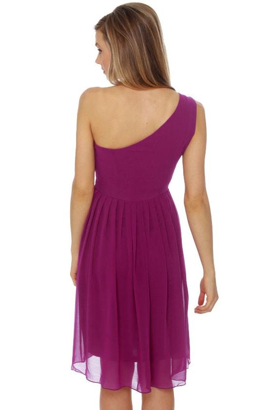 Fleeting Glance Magenta Dress