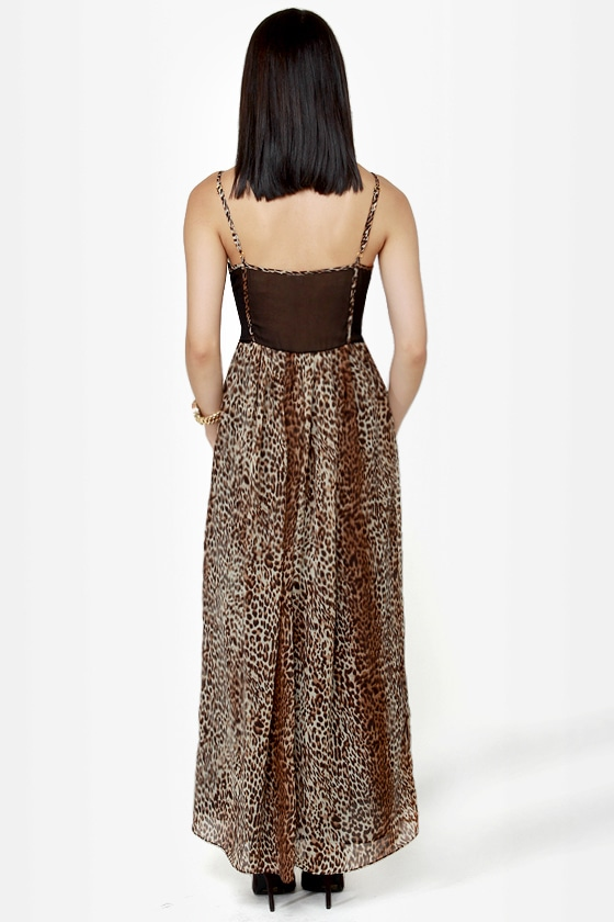 Can't Be Tamed Animal Print Maxi Dress at Lulus.com!