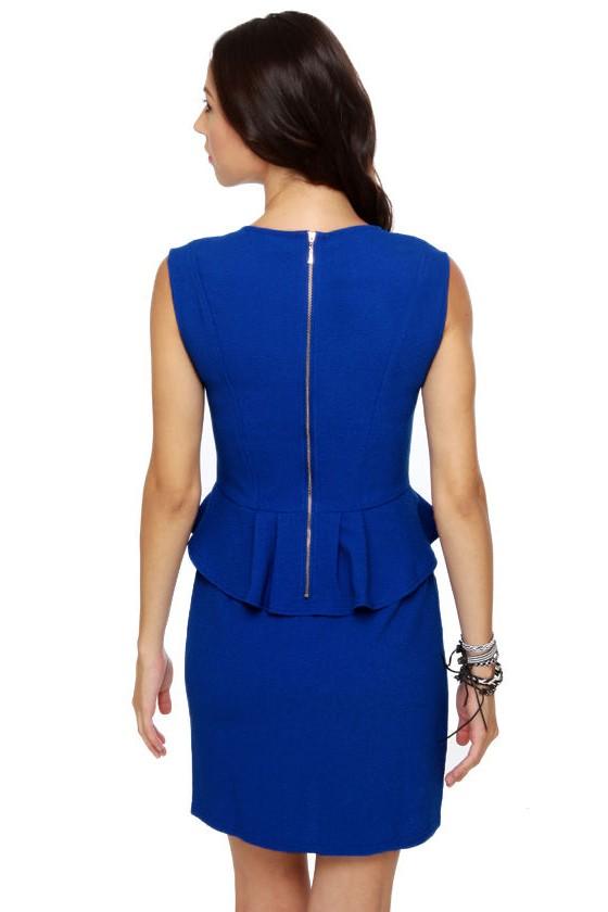 Audrey Pep-burn Royal Blue Dress