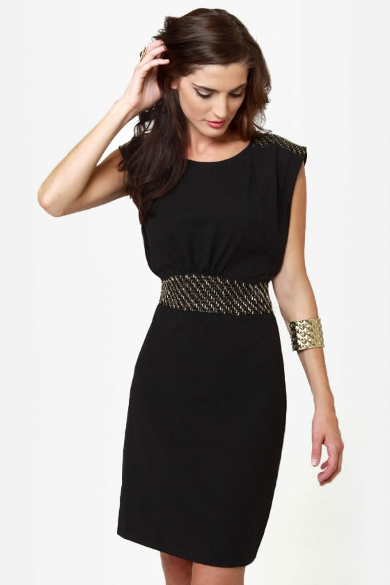 Make Bead-lieve Beaded Black Dress at Lulus.com!