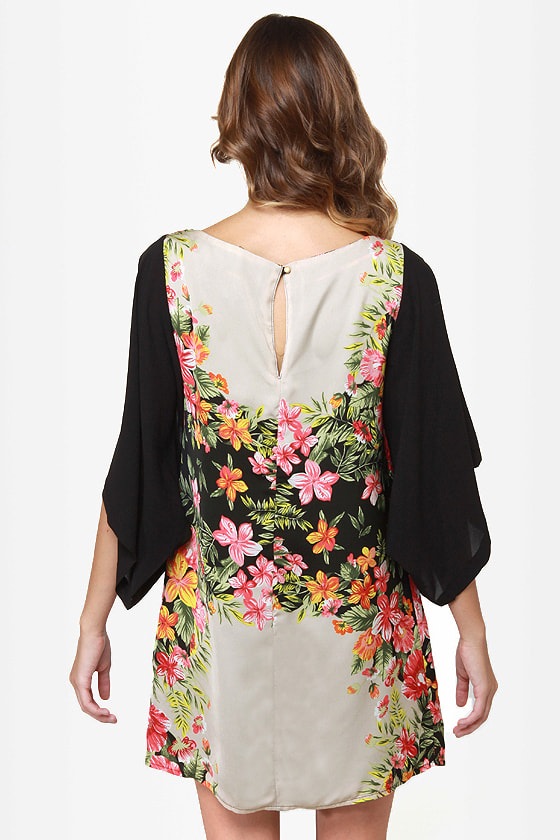 Ticket to Paradise Floral Print Kimono Dress at Lulus.com!