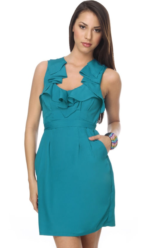 Hibiscus Melody Water Blue Dress