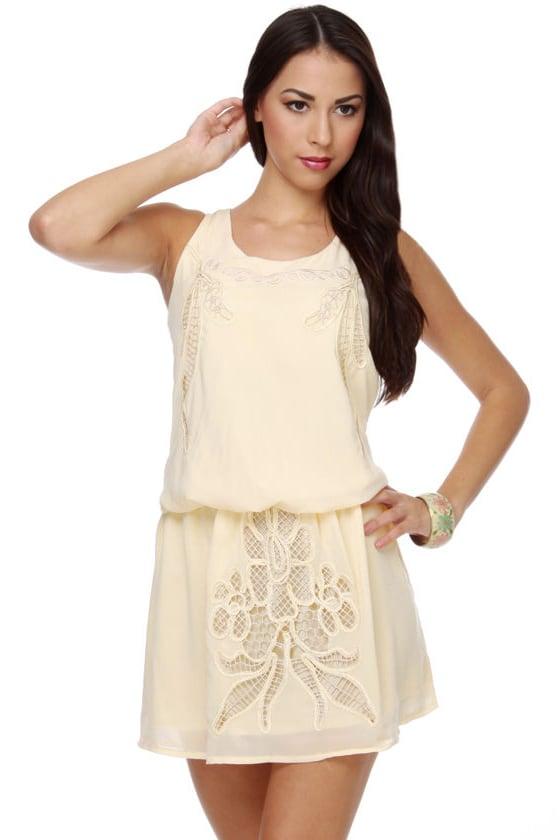 Sugar Cane Cream Lace Dress