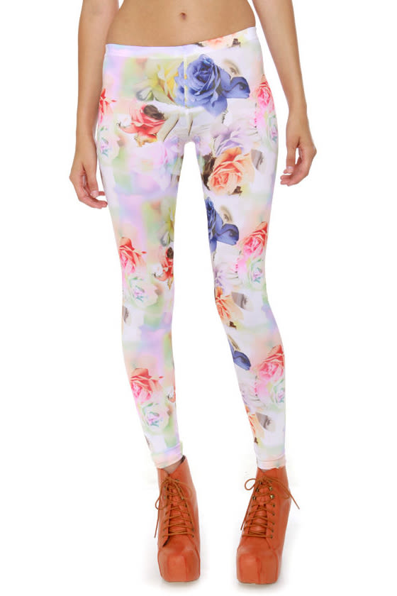 Volcom Hot Sunday Floral Print Leggings